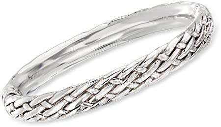 Ross-Simons Sterling Silver Basketweave Bangle Bracelet