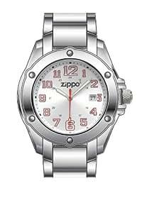Zippo 45015 - Reloj para hombres, correa de acero inoxidable color plateado