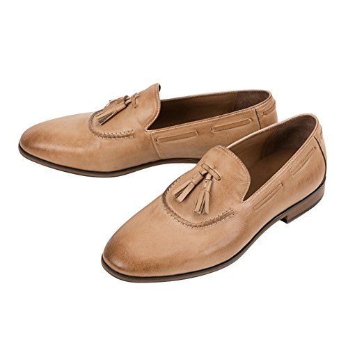 Tortor Adult apricot Shoes Tassel Leather Loafer On Slip Unisex Fringe 1bacha rnaUr