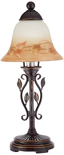 Dale Tiffany TA80540 Leaf Vine Hand Painted Mini Lamp Antique Golden Sand