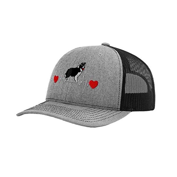 Richardson Structured Mesh Trucker Hat Dog Border Collie Lifeline A Embroidery 1