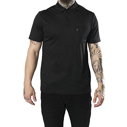 Barber Strong Polo, Black, Large (Blk Traditional Mens Jacket)