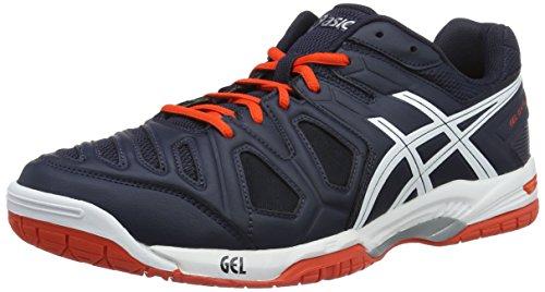 Asics Gel-Game 5, Zapatillas de Gimnasia para Hombre Multicolor (Sky Captain/White/Orange)