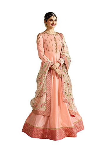 7153480202 New Indian/Pakistani Designer Georgette Party Wear Anarkali Suit Maisa  (Light Orange, X