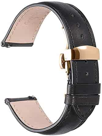 a197992f3 Watch Band Quick Release Strap 16mm 18mm 20mm 22mm Replacement Genuine  Leather Mens WatchBands Pin Buckle