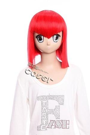 W 336 Negro Butler Madama rojo cosplay peluca peluca rojo rojo resistente al calor manga