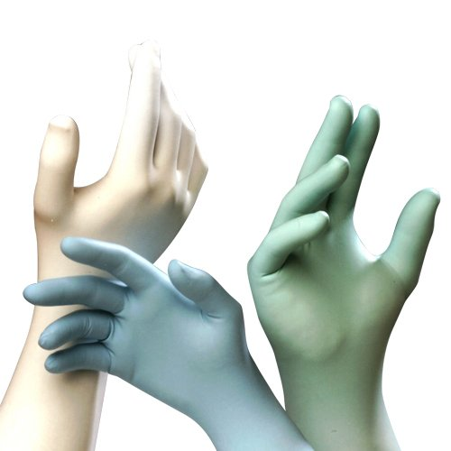 Techniglove Nitrile Glove, 12'', Class 10, Green, XXL, 1000/case