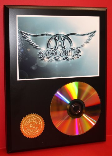 Aerosmith Limited Edition 24Kt Gold Rare Collectible Disc Award Quality Music Display Gold Record Outlet