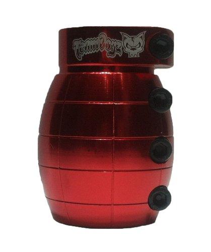 Abrazadera SCS para barra de pesas Team Dogz SCS color rojo dise/ño de granada