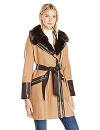 Via Spiga womens Asym Belted Wool