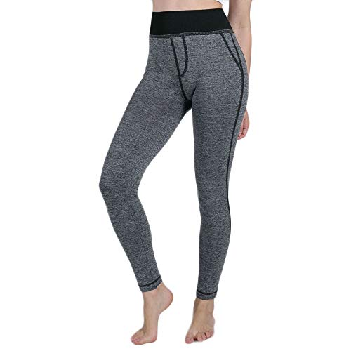 539aeb86ce928 SGMORE High Waist Yoga Pants Tummy Control Shapewear Power Flex Capri  Workout Running 4 Way Stretch