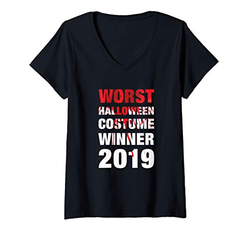 Womens Worst Halloween Costume Winner 2019 V-Neck T-Shirt