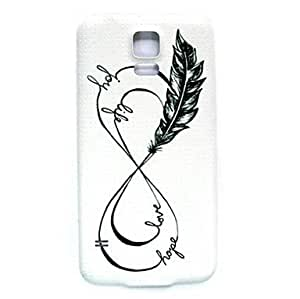 Happy Love Feather Pattern Thin Hard Case Cover for Samsung Galaxy S5 I9600