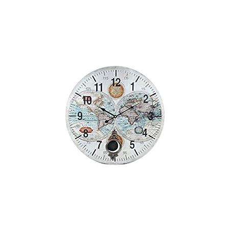 Art Deco Home Horloge Murale Carte Du Monde Avec Pendule