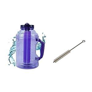 Cool Gear EZ Freeze 75 Ounce Water Bottle with Free Brain Power Techniques Ebook (Purple)