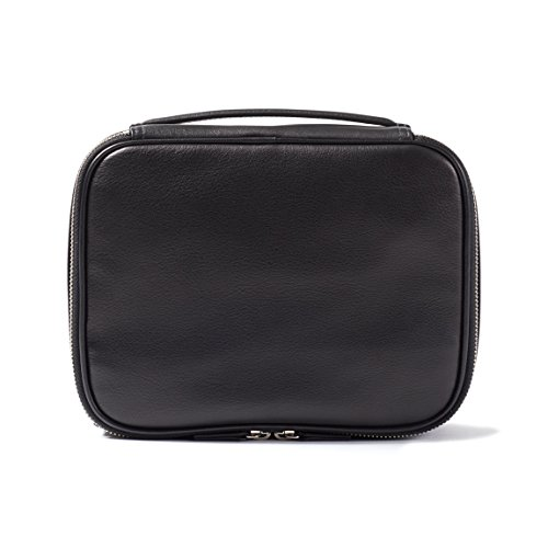 Leatherology Large Travel Organizer - Full Grain Leather Leather - Black Onyx (black) by Leatherology