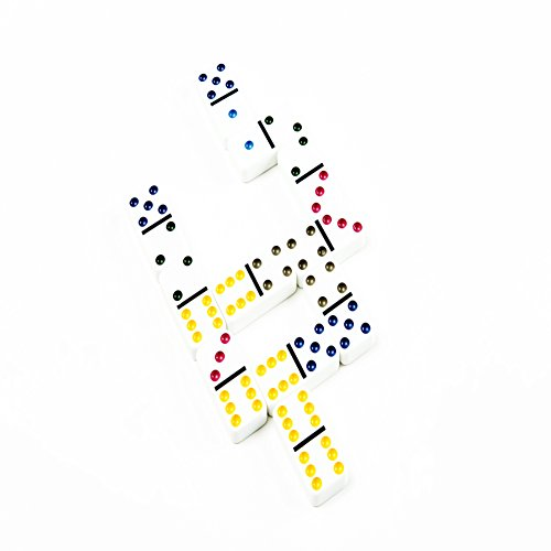 AOQING Dominos Set, Double 6 Color Dot Dominoes,Set of 28 Dominos Game (Pack of 2) by AOQING (Image #8)