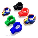 ICYANG 6 pcs Cigarette Holder, Soft Silicone Hands Free Cigarette Finger Ring Holder to Protect your finger Turn yellow for Console Gamers, Musicians, Drivers and All Smokers, Random Color