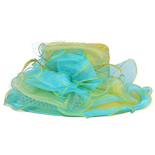 Original One Women's Organza Hats KDW1722 For Kentucky Derby Day, Church, Wedding, Tea Party and More Formal Occasion