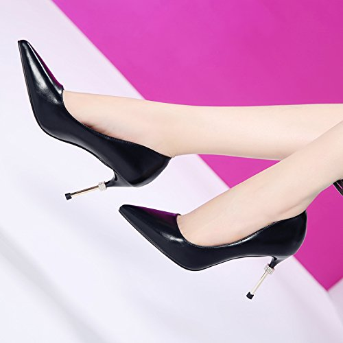 Shoes And Sexy Match Black Diamond Pointed All HGTYU Pumps Shoes Fine With vS4qxUq7