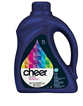 Cheer Liquid Laundry Detergent, Fights Fading and Pilling, 64 Loads 100 fl oz