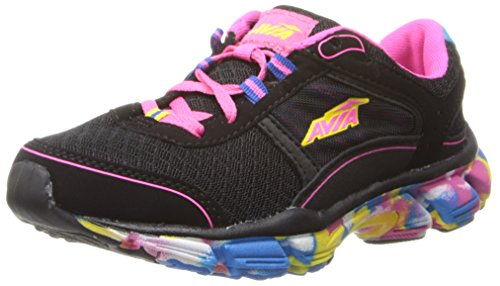 AVIA Play Sneaker (Toddler/Little Kid/Big Kid) Black/Blue/Passion Pink/Vibrant Ray