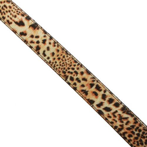 Imprimée Accessoryo Noire La Peau Ceinture Cheveux Sur 110cm De Jaguar Dames nqPF8n4