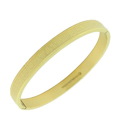 Stainless Yellow Gold Tone Handcuff Bracelet product image