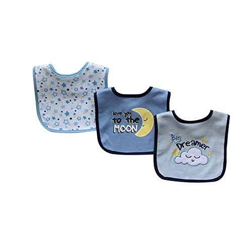 Yamalans 3Pcs Set Cartoon Pattern Double Layer Toddler Waterproof Saliva Towels Baby Feeding Bibs 3#