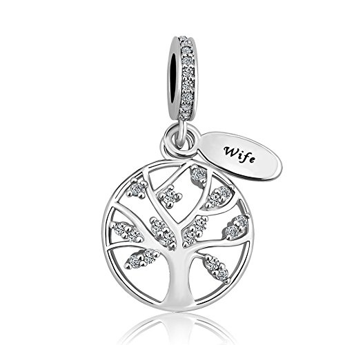 Third Time Charm Love Wife Charm Family Tree Of Life Beads For Bracelets (Single Charm)