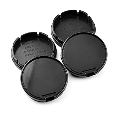 Rhinotuning 56mm/52mm Wheel Center Hub Caps Black ABS for Replace #6N0601171 Set of 4: Automotive