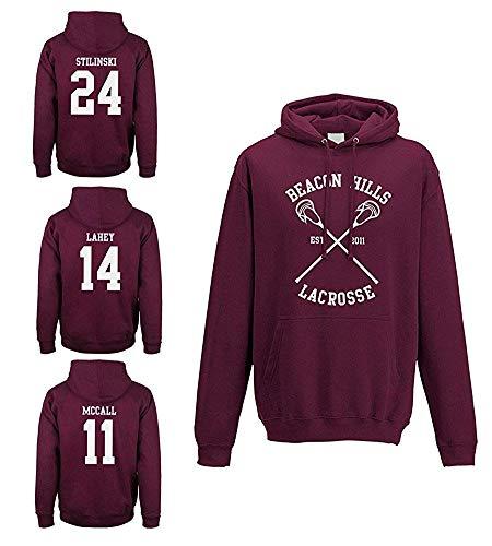 Uomo Tops Felpa 11 Donna Rosso Con Manica Sweatshirt Pullover Lunga Moda Cappuccio Beacon Hoodies Hooded Autunno Inverno Lacrosse Mccall Hills wkuPXOiTZ