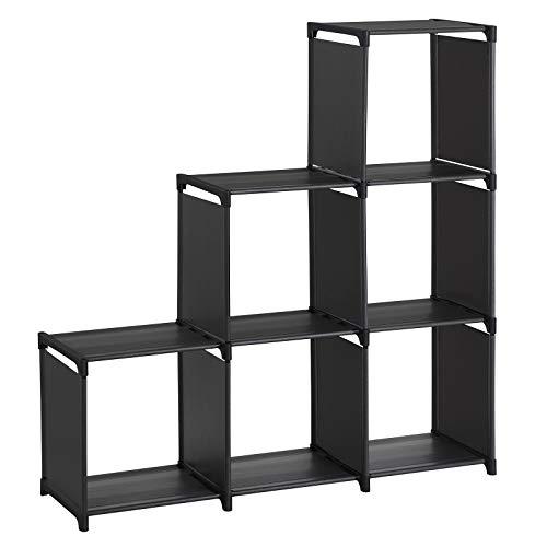 - SONGMICS 3-Tier Storage Cube Closet Organizer Shelf 6-Cube Cabinet Bookcase ULSN63BKV1