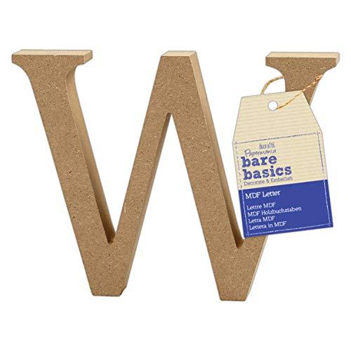 MDF Letter (1 Piece) – Bare Basics – W