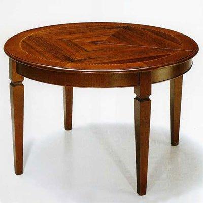 Mesa de comedor, diámetro de 120 cm con extensión, madera de ...