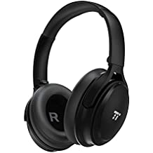 TaoTronics Active Noise Cancelling Headphones Bluetooth Headphones Over Ear Headphones, Wireless Headphones High Clarity Sound Powerful Bass, 25-30 Hour Playtime for Travel Work TV PC Cellphone