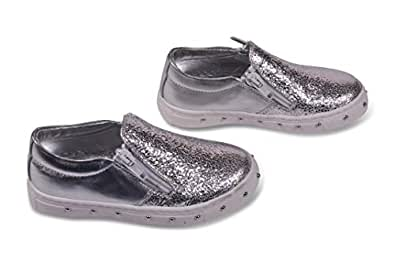 Amici Shoes Silver Flat Sandal For Girls