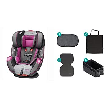Evenflo Symphony Elite All-In-One Car Seat, Martina with Car Seat Accessory Kit