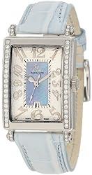 Gevril Women's 7247NE Mini Quartz Avenue of Americas Blue Diamond Watch