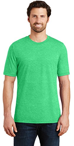 District Made DM130 Mens Perfect Tri Crew Tee, 2XL, Green Frost -