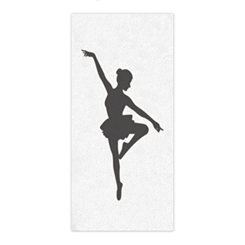 HottestRoom Girls Ballet Dancer Gifts for Ballerinas Dance of Fairy Wings Theme Extra Large Beach Towel Travel Towel Bath Towel for Spa Swim Sports Yoga Sunbathing Women Towel 28x55inch by HottestRoom