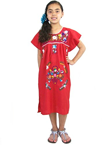Leos Mexican Imports Girls Mexican Puebla Dress