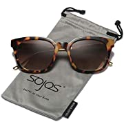 #LightningDeal 81% claimed: SOJOS Classic Polarized Sunglasses for Women Men Mirrored Lens SJ2050