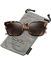 38a3edfcd4f SOJOS Classic Polarized Sunglasses for Women Men Mirrored Lens SJ2050 with  Black Frame Grey Polarized