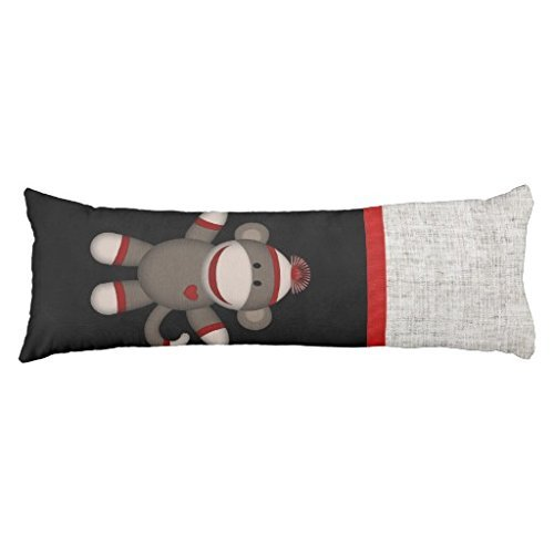 Retro Sock Monkey Body Pillowcase