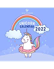Unicorn Calendar: With an Extra Coloring Pages Featuring Magic Unicorns and Horses for Kids and Adults