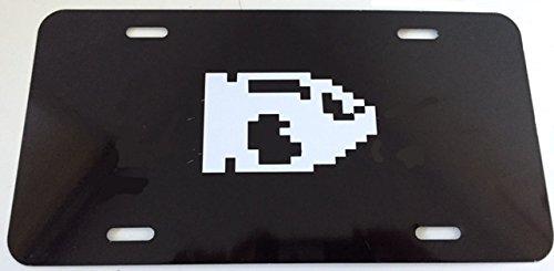 Price comparison product image Mario Bullet in 8 Bit - Automotive License Frame Insert - Black