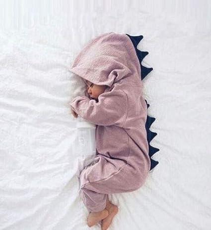 Fiomva Newborn Baby Boy Girl Warm Long Sleeve Romper Outfits Jumpsuit Bodysuit Clothes