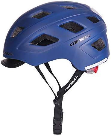 Mountain Road Bike Safety Riding Helmet con luz led M(54-58) 56-61cm Cairbull Hombres//Mujeres Nuevo Ciclismo Casco con Visera L