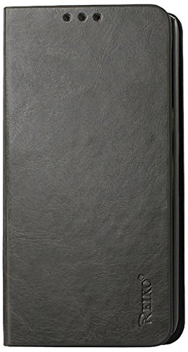 Reiko Flip Case with Card Holder for Nokia Lumia 635 - Retail Packaging - Gray